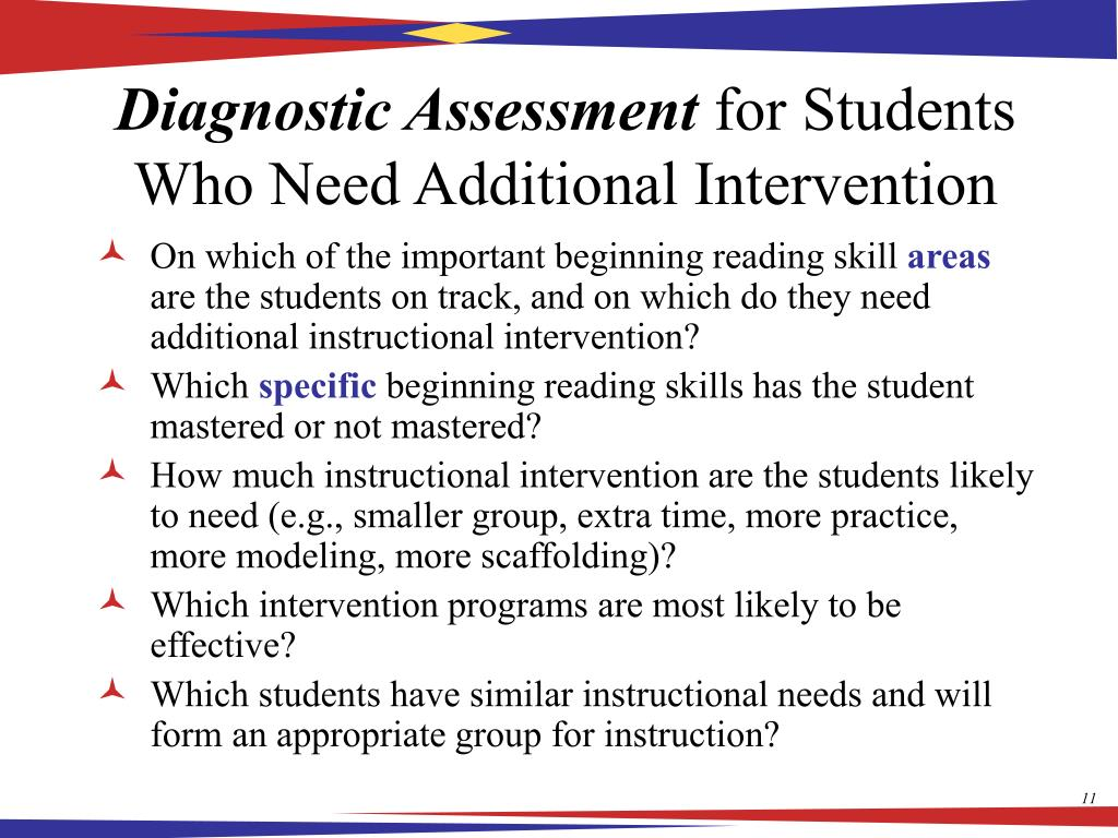 diagnostic assessment Senate bill 1 (krs 1586453(9)) requires schools to enroll primary students using diagnostic assessments and prompts that measure readiness in.