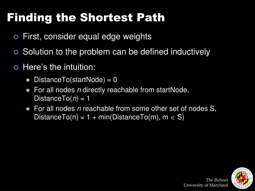 Finding the Shortest Path