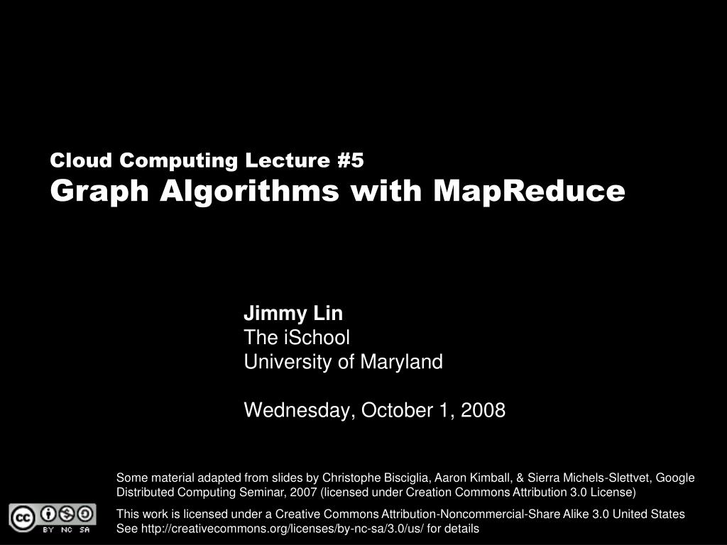 jimmy lin the ischool university of maryland wednesday october 1 2008 l.