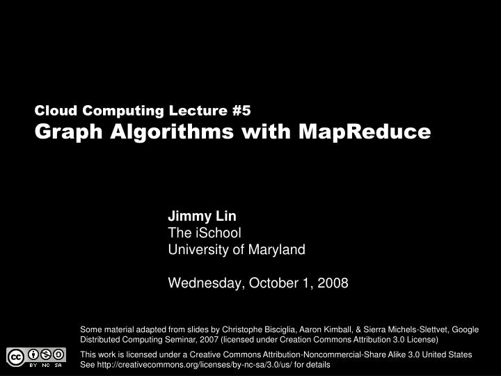 Jimmy lin the ischool university of maryland wednesday october 1 2008