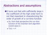 abstractions and assumptions28