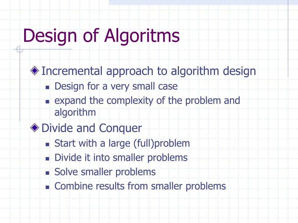 Design of Algoritms
