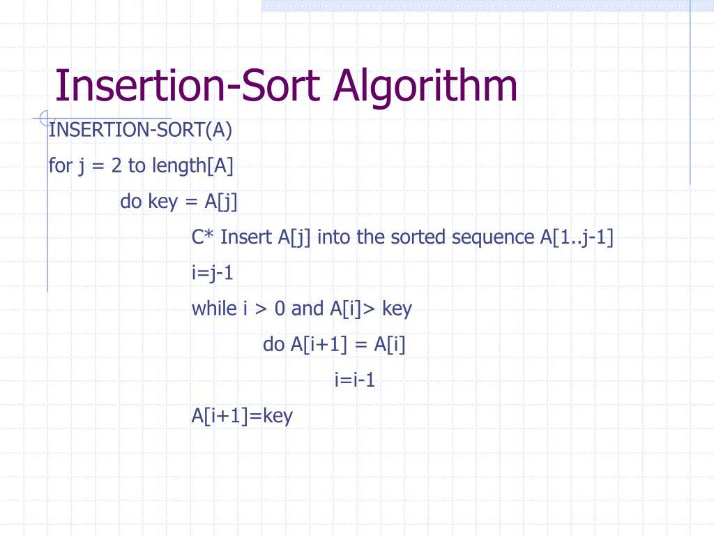 Insertion-Sort Algorithm