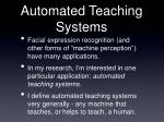 automated teaching systems