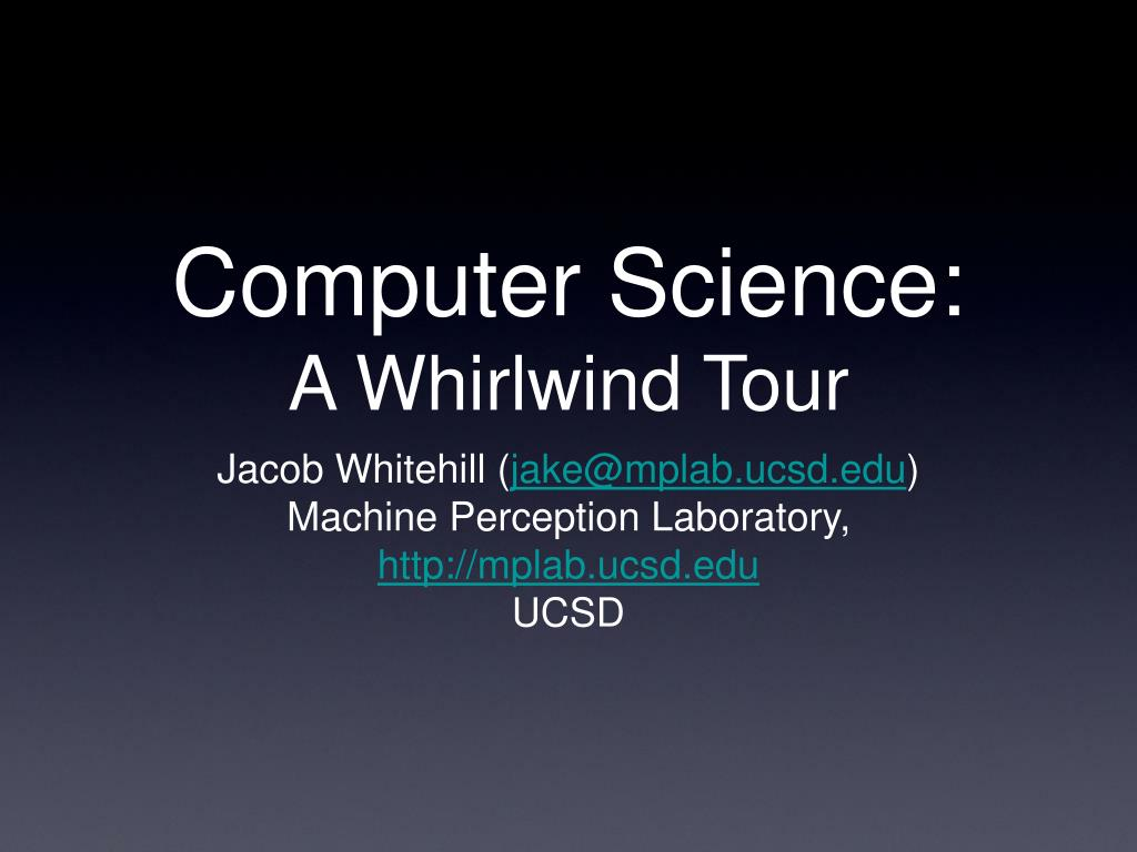 computer science a whirlwind tour l.