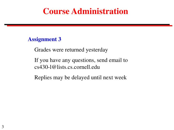 Course administration3
