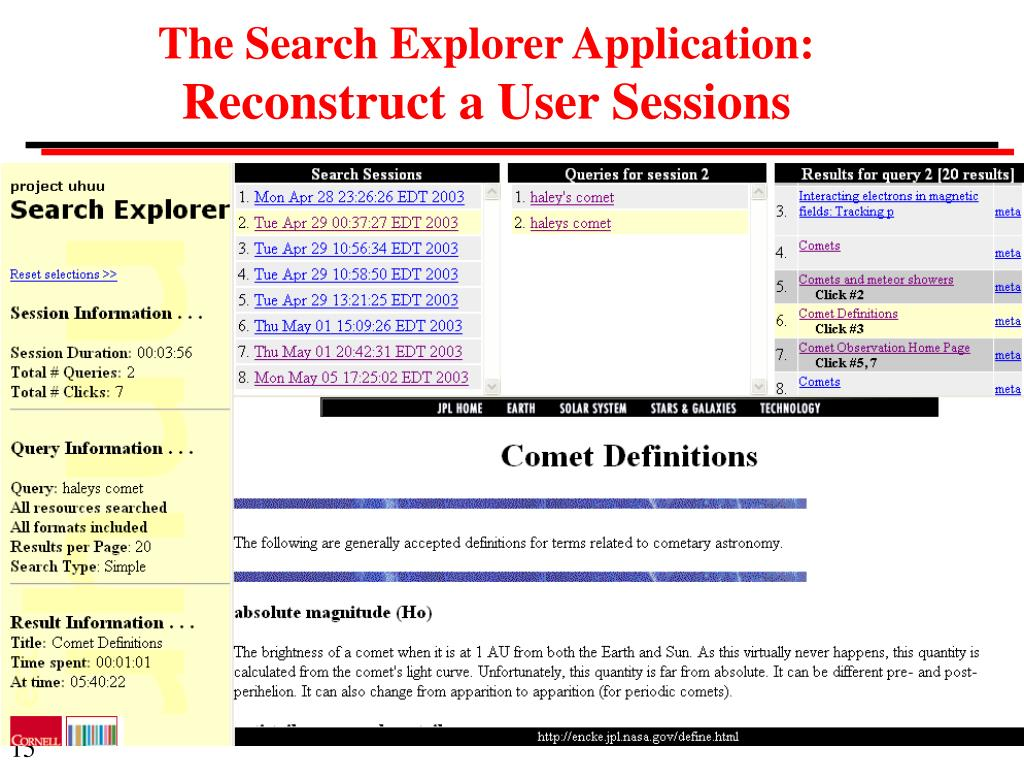 The Search Explorer Application: