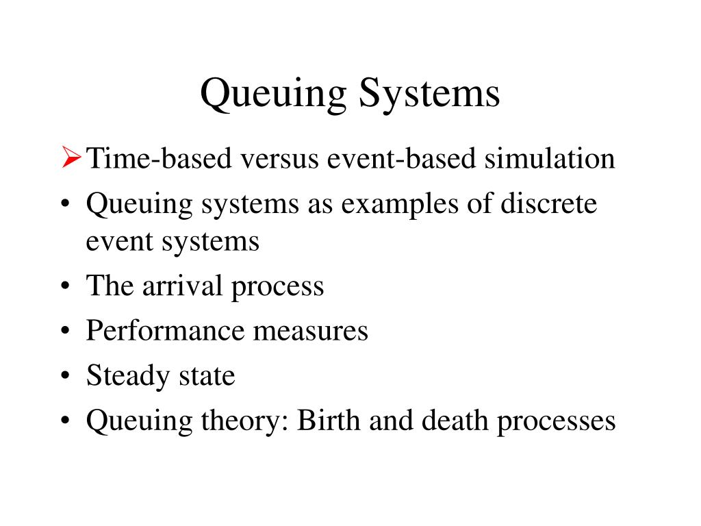 PPT - Queuing Systems PowerPoint Presentation - ID:1222945