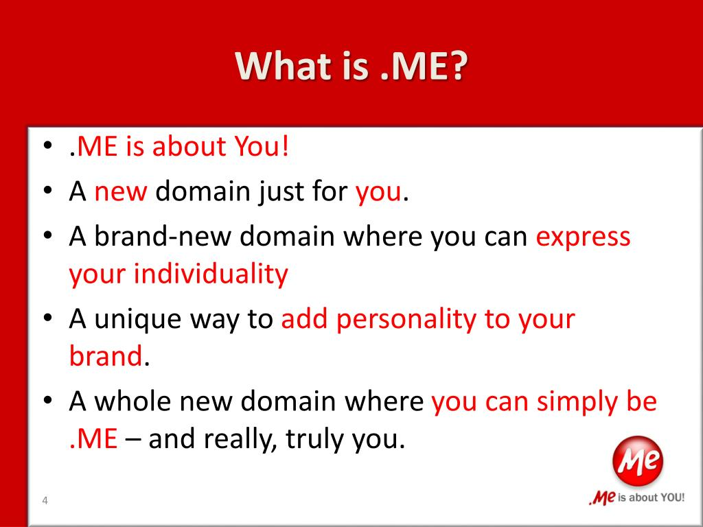 What is .ME?