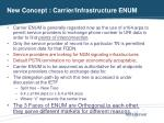 new concept carrier infrastructure enum