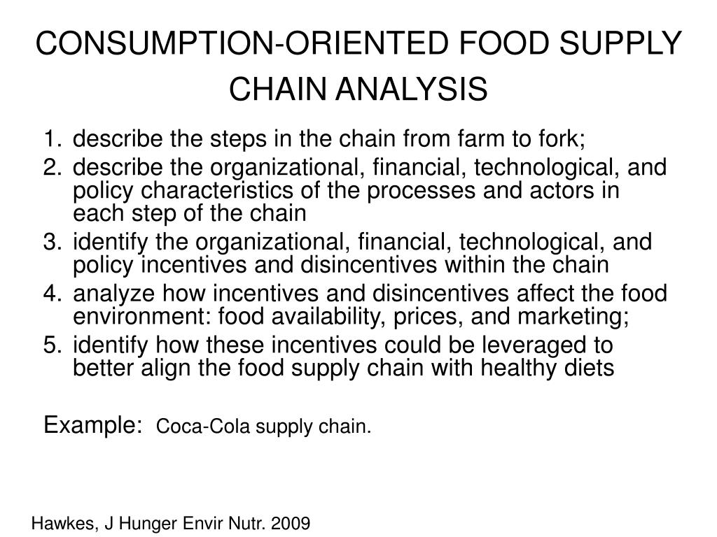 CONSUMPTION-ORIENTED FOOD SUPPLY CHAIN ANALYSIS