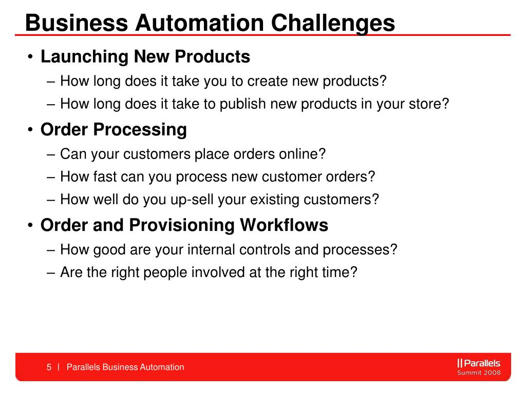 Business Automation Challenges