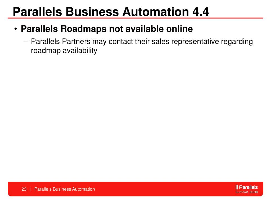 Parallels Business Automation 4.4