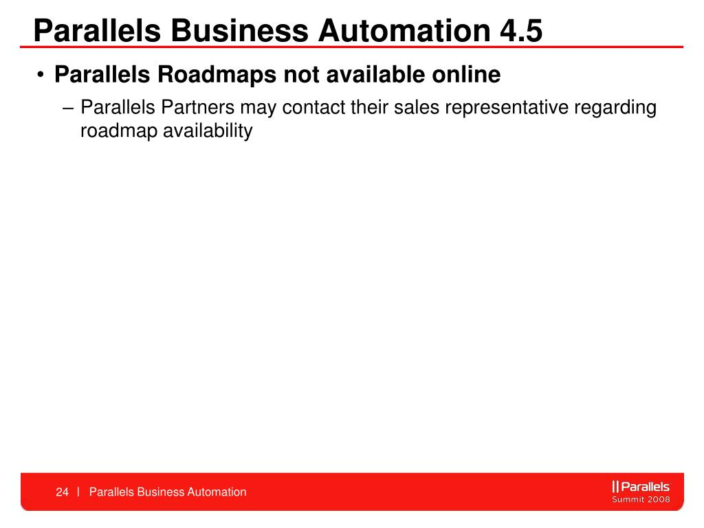 Parallels Business Automation 4.5