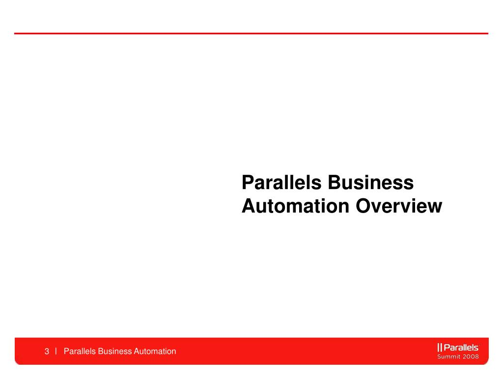 Parallels Business Automation Overview