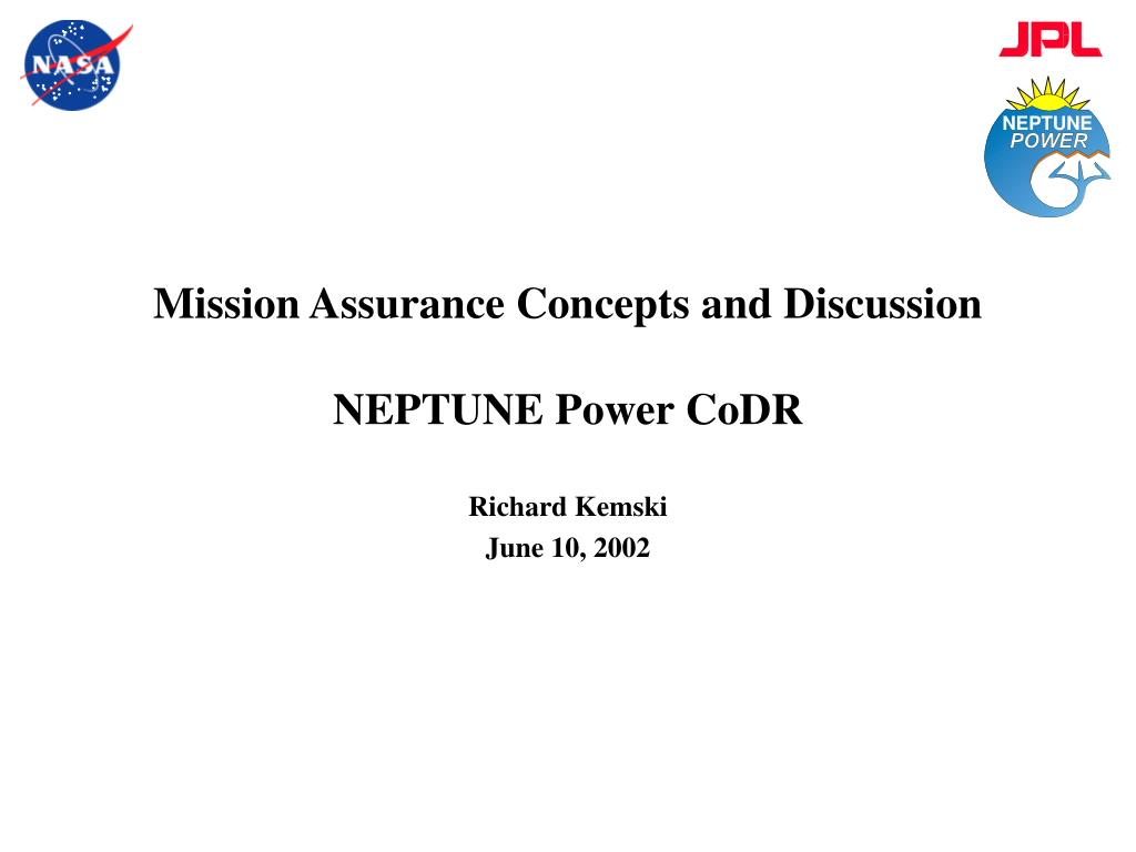 Mission Assurance Concepts and Discussion