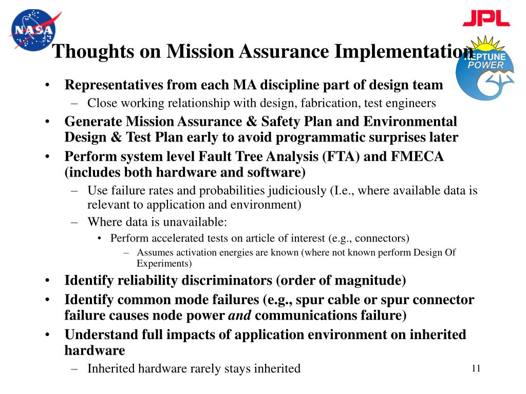 Thoughts on Mission Assurance Implementation