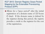 rcf 3915 domain registry grace period mapping for the extensible provisioning protocol epp