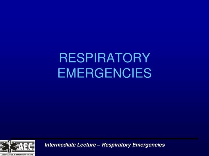 respiratory emergencies n.