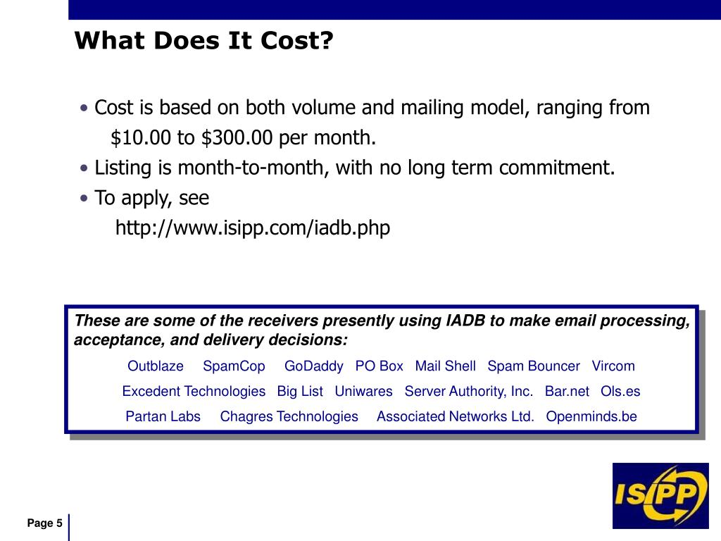 Cost is based on both volume and mailing model, ranging from