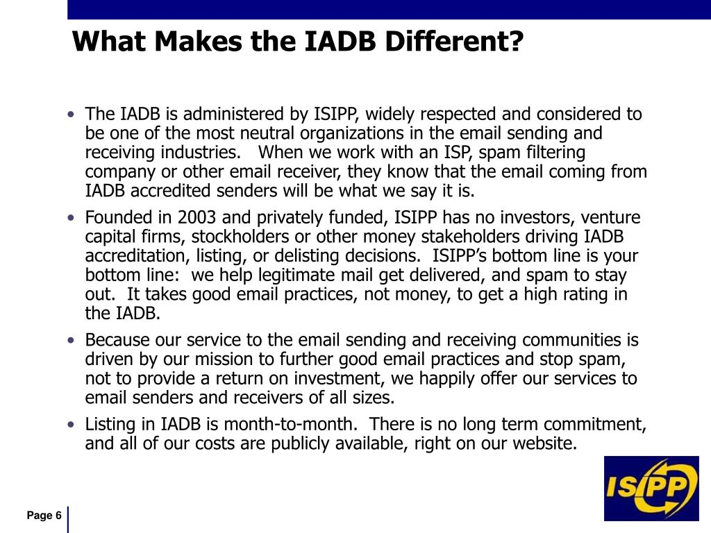 What Makes the IADB Different?