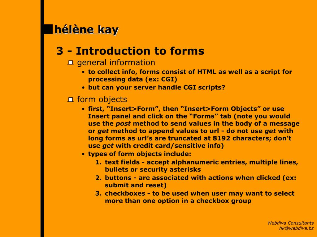 3 -Introduction to forms