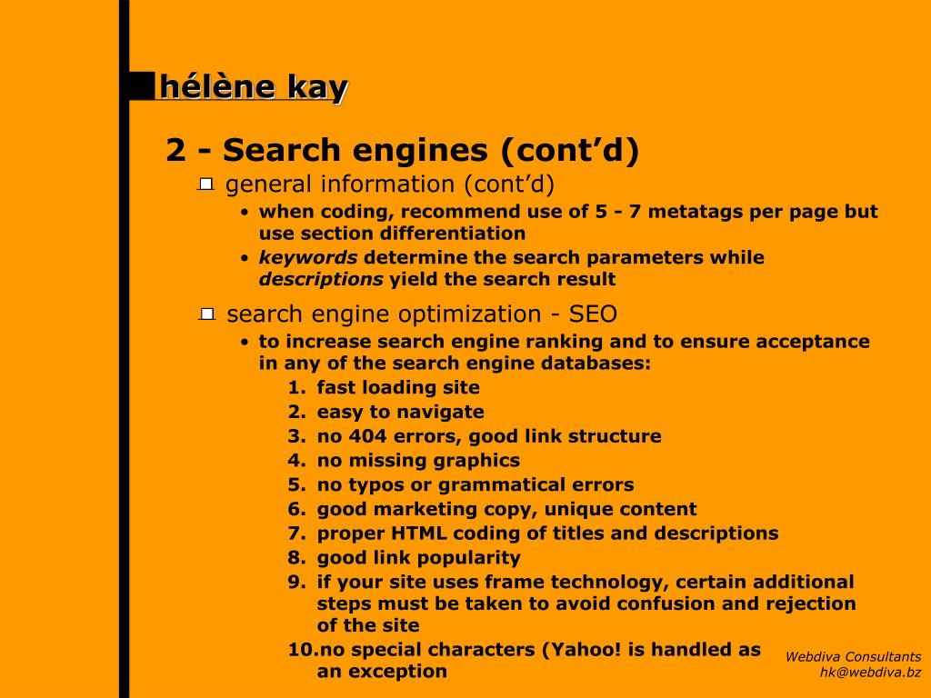 2 -Search engines (cont'd)
