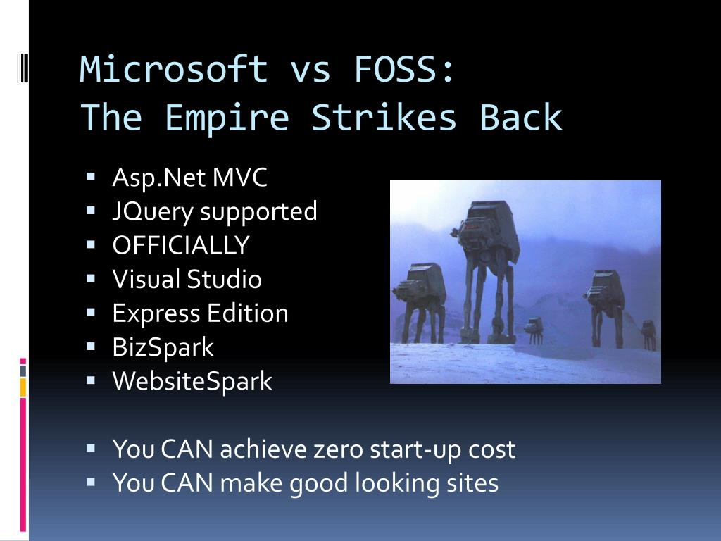 microsoft vs foss