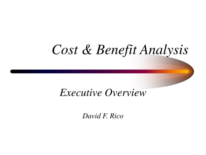cost benefit analysis n.