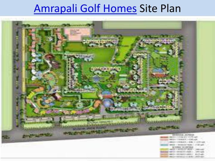 Amrapali golf homes site plan