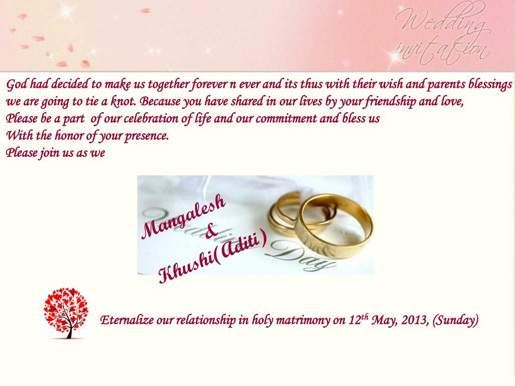 God had decided to make us together forever n ever and its thus with their wish and parents blessings