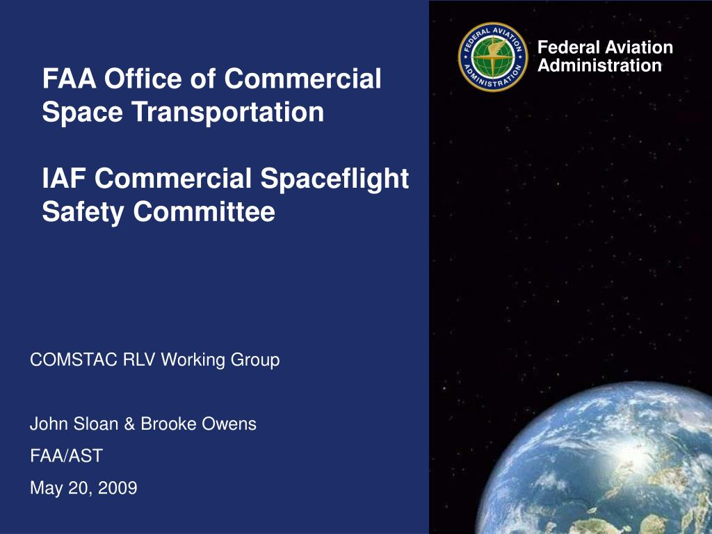 faa office of commercial space transportation iaf commercial spaceflight safety committee l.