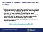 iaf commercial spaceflight safety committee cssc continued