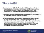 what is the iac