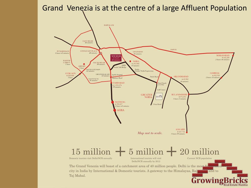 Grand  Venezia is at the centre of a large Affluent Population