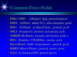 common force fields