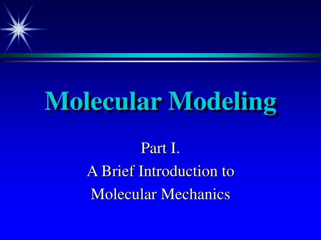 molecular modeling l.
