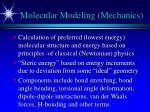 molecular modeling mechanics