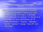 atonement continued