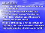 doctrine is