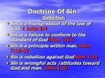 doctrine of sin