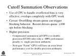 cutoff summation observations