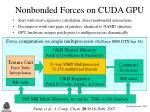 nonbonded forces on cuda gpu