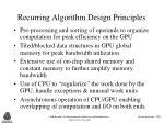 recurring algorithm design principles