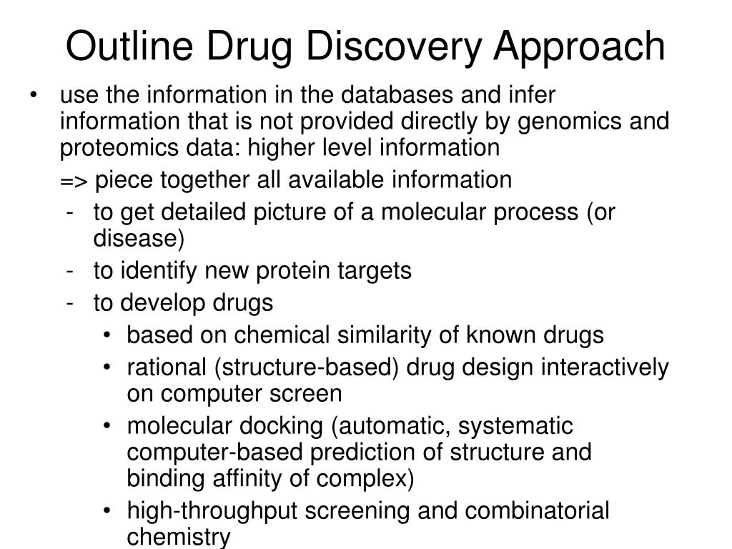 Outline Drug Discovery Approach