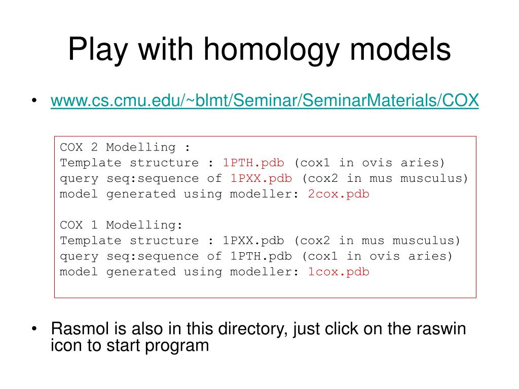 Play with homology models