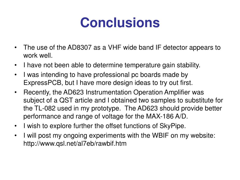 PPT - A Wide Band IF Receiver for Radio Astronomy by Edward