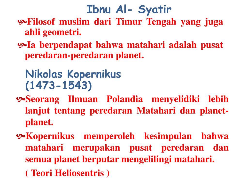 Ibnu Al- Syatir