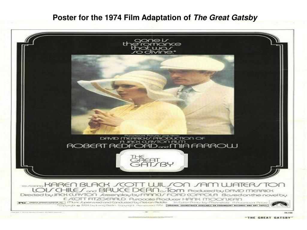 Poster for the 1974 Film Adaptation of