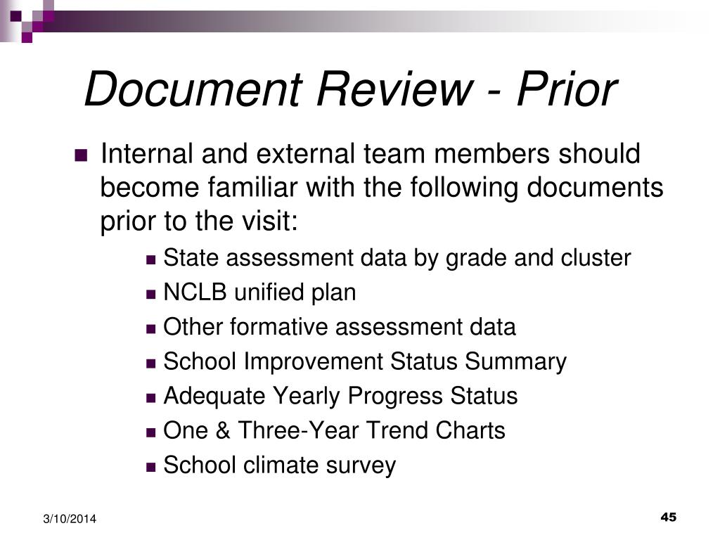 Document Review - Prior